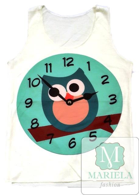 Майка летняя детская 004 (Часы)