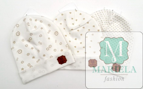 Шапка для новорожденных фирмы Мариэла