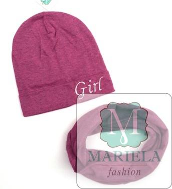 Комплект со снудом для девочки фирмы Мариэла
