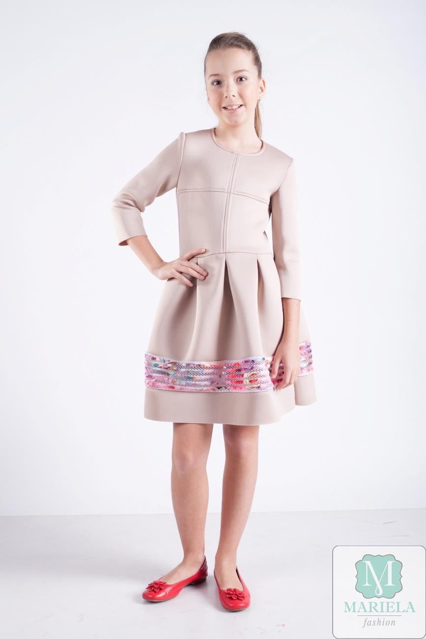 Праздничное ультрамодное подростковое платье для девочки