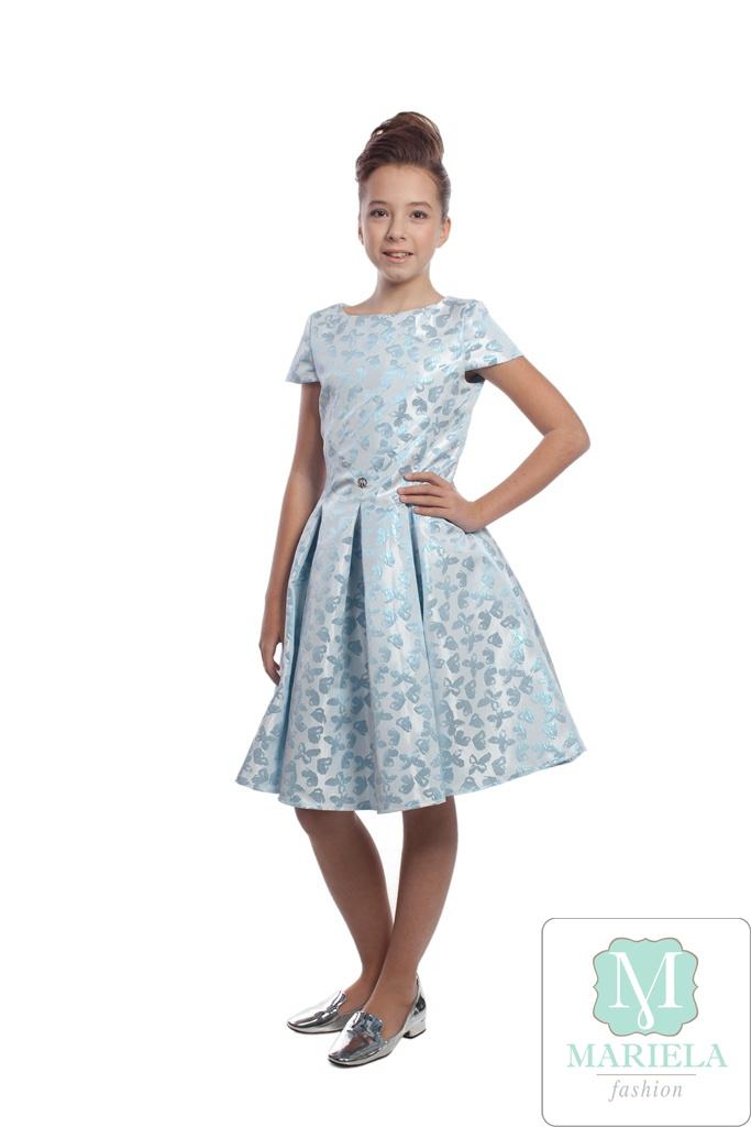 Платье для девочки арт.5201 (голубое)