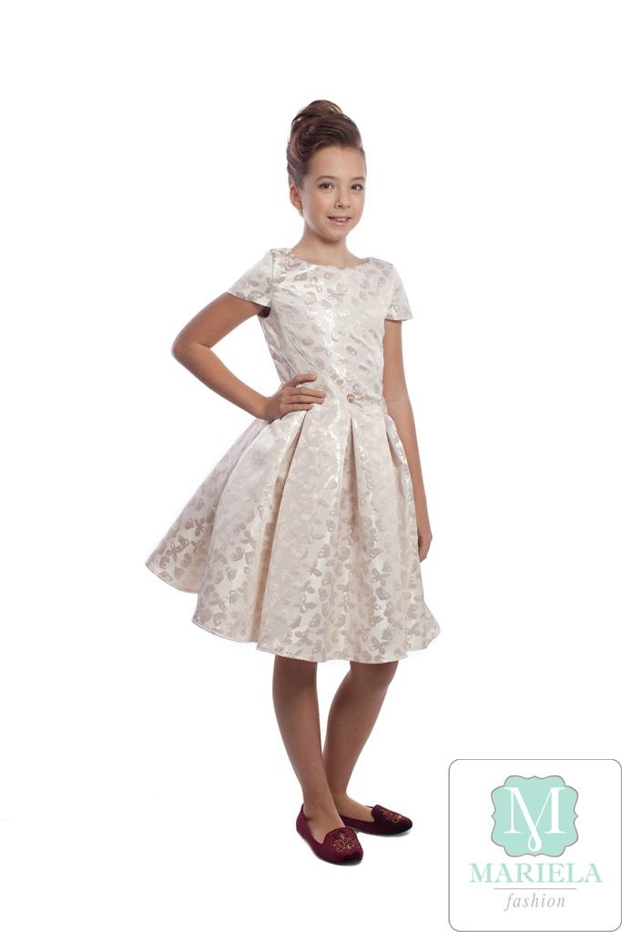 Платье для девочки арт.5201 (золотое)