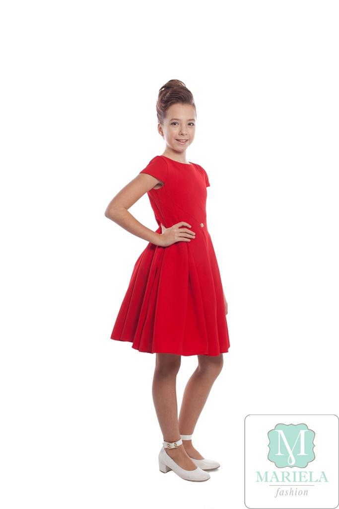 Платье для девочки арт.5204 (красное)